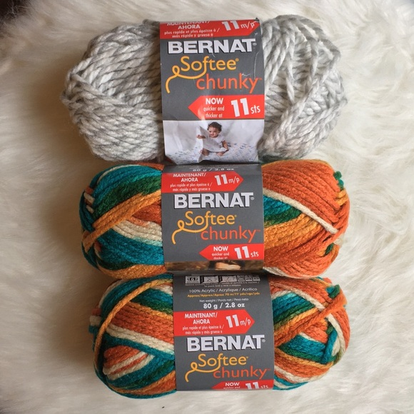 mixed chunky variegated yarn - 3 skeins